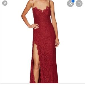 Fame & Partners Everett Gown in red lace